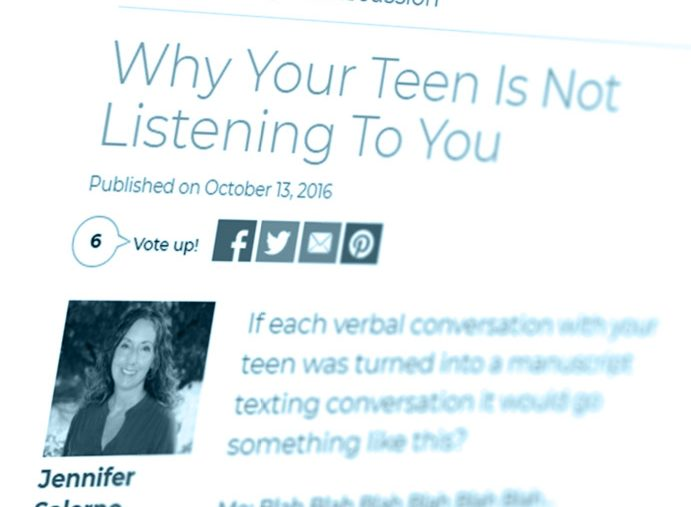 Why Your Teen Is Not Listening To You